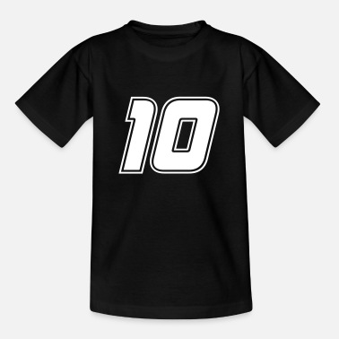 Number Starting number 10 white, number ten - Teenage T-Shirt