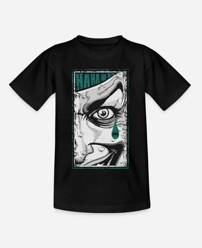 Joker T-shirts - Joker Batman Teardrop - Teenager T-shirt zwart