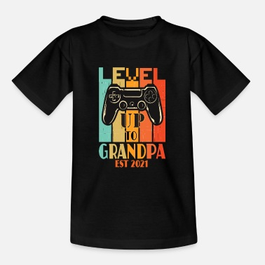Gamer Grandad promoted to grandpa gamer est 2021momannouncefment - Teenage T-Shirt