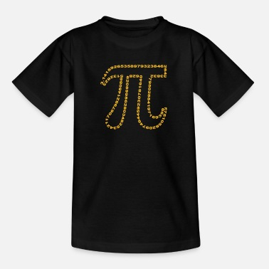 Geek pi outline - Teenage T-Shirt