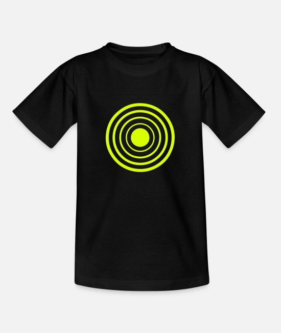 Destination T-shirts - target cible cercle 2106 - T-shirt Ado noir