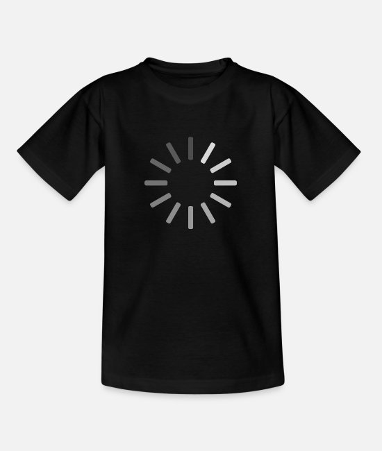Video Buffer T-Shirts - Buffering icon - Teenage T-Shirt black