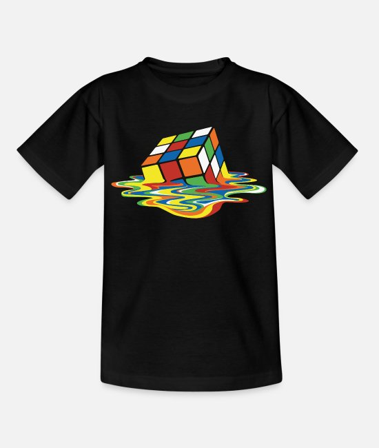 The Best Of T-paidat - Rubik's Cube Melted Colourful Puddle - Teinien t-paita musta