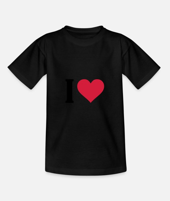 I Love T-Shirts - i love - Teenager T-Shirt Schwarz