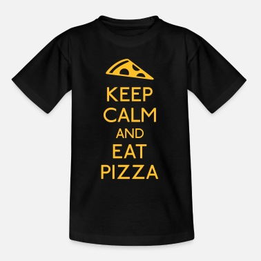 Keep Calm Keep Calm Pizza - Tenårings T-skjorte