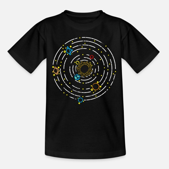 Solsystem T-shirts - Planet solsystem - T-shirt teenager sort