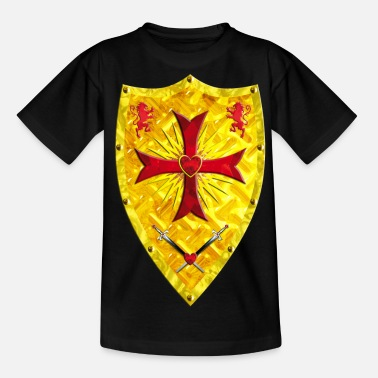 Tætne Crusader Shield ridderkors Swords Loewen - T-shirt teenager