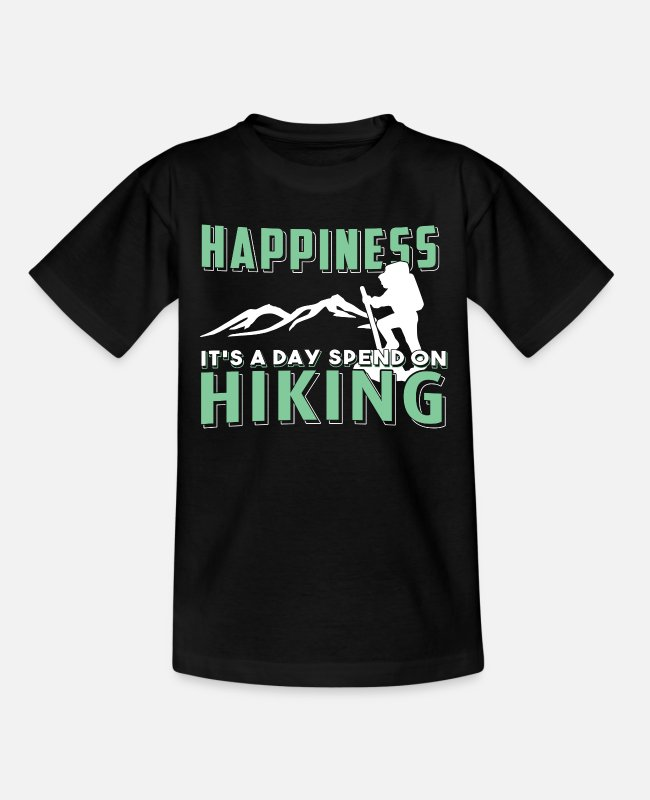 Skitour T-Shirts - Climbing Mountaineering Hiking Hiking Mountains Gift - Teenage T-Shirt black