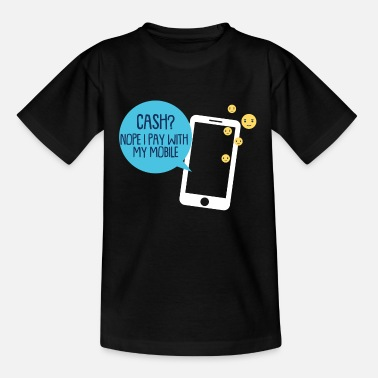 Pay by mobile phone - Teenage T-Shirt