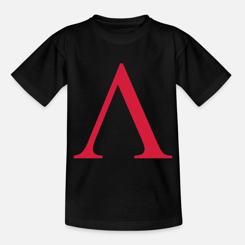 Alpha T-Shirts - lambda greek - Teenager T-Shirt Schwarz