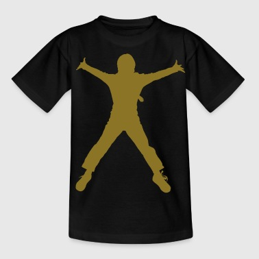 breakdance dance music people - T-shirt tonåring