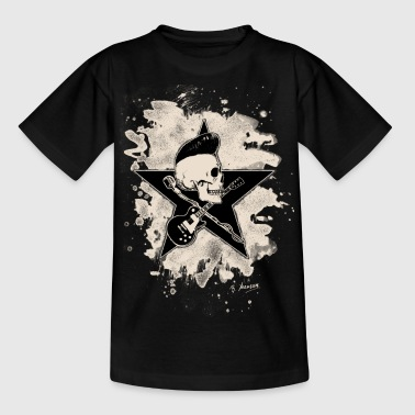 Rock-n-Roll Skull - bleached - Teenager T-Shirt
