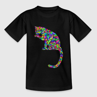 Facettenkatze - Teenage T-shirt