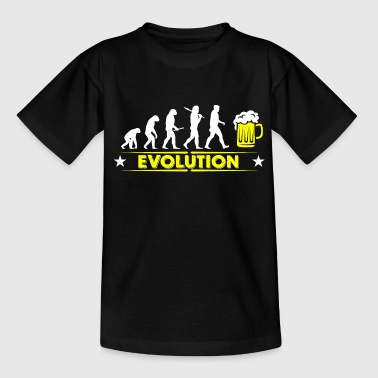 Øl evolution - gul/hvid - Teenager-T-shirt