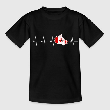 I love Canada - Canada - heartbeat - Teenage T-shirt