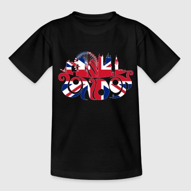 London  (outline) - Teenage T-shirt