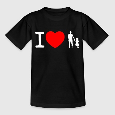 I love father and daughter - white - Teenage T-shirt