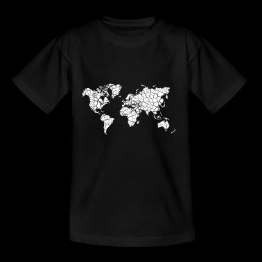 Kaart driehoeken wereldkaart Travel Gift - Teenager T-shirt