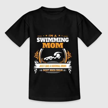 Swimming Mom Shirt Gaveidee - Teenager-T-shirt