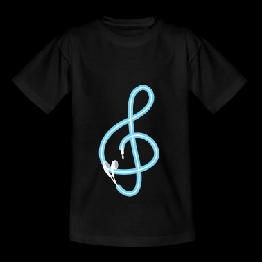 Music is the key - Musik - Sound - Lied - Lyrics - Teenager T-Shirt