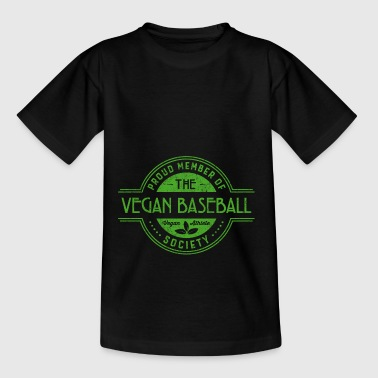 Vegan Baseball Athlete Society Club Member Gift - Teenage T-shirt