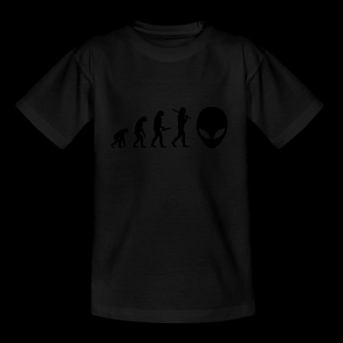 maskeret superhero evolution fremskridt - Teenager-T-shirt