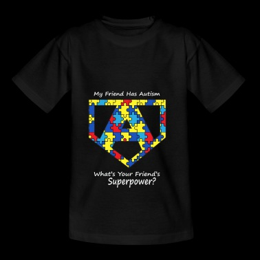 Autism Superpower Colorful Autist Gift - Teenage T-shirt