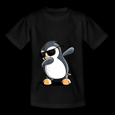 Coole Dab Dance Penguin met zonnebril dabbing - Teenager T-shirt