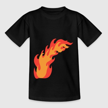 Flames Fire - Teenage T-shirt
