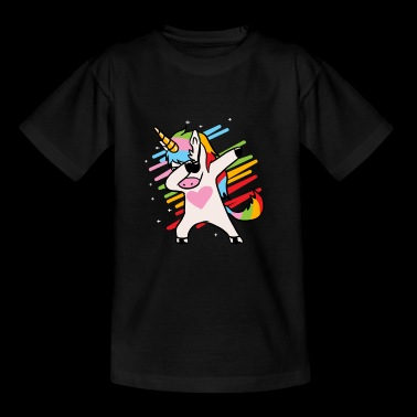 Einhorn Dab - Teenager T-Shirt