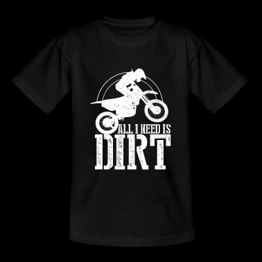 DIRT - Motocross Dirtbike Gift - Teenage T-shirt