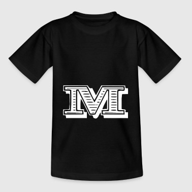 Letter M - Teenager-T-shirt