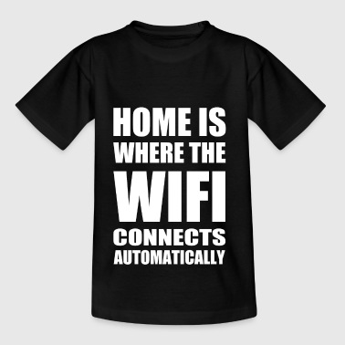 wifi hjem - Teenager-T-shirt