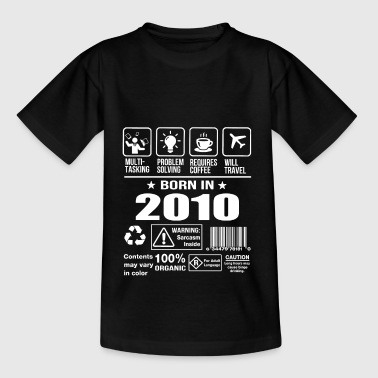 Geboren in 2010 - Teenager T-shirt