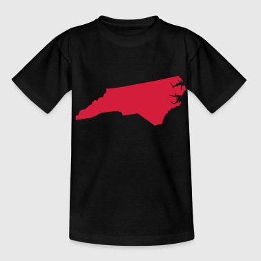 north carolina usa - T-shirt tonåring