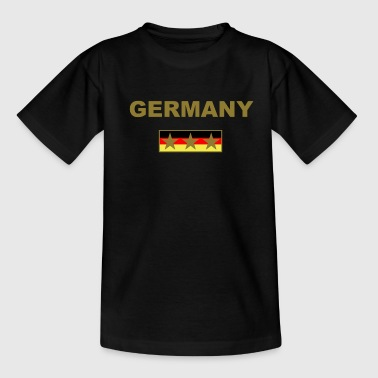Germany drei Sterne gold gold - Teenager T-Shirt