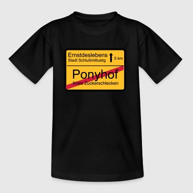 ende ponyhof - Teenager T-Shirt