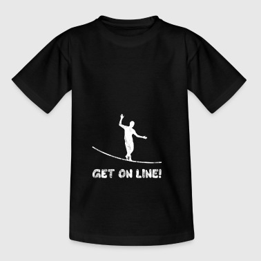 GET ON LINE Slackline Geschenk - Teenager T-Shirt
