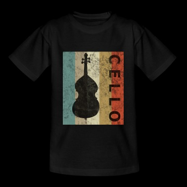 Cello Vintage Retro Style Grunge - Camiseta adolescente