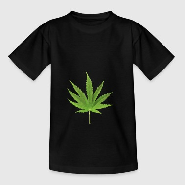 Hanfblatt Low-Polygon-Effekt - Teenager T-Shirt