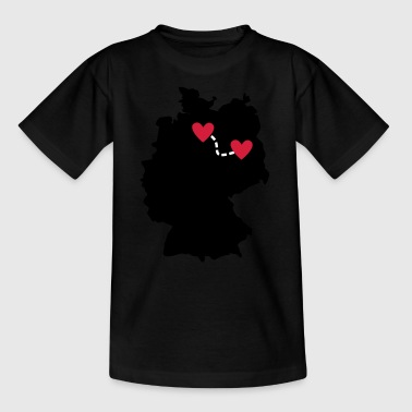 Long-distance relationship - Hamburg / Berlin - Teenage T-shirt