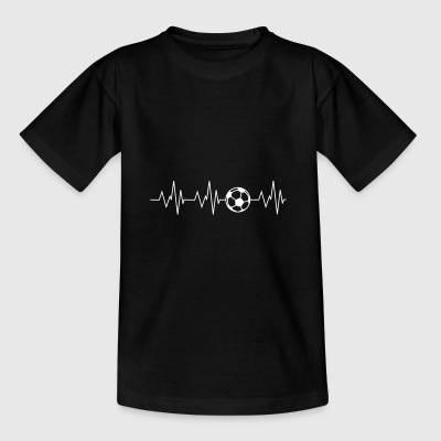Heartbeat football - Teenage T-shirt