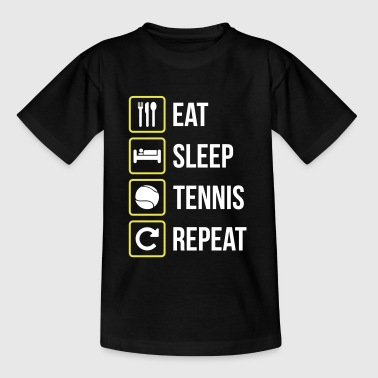 Eat Sleep Tennis Repeat - Maglietta per ragazzi