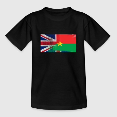 British Burkinabe Half Burkina Faso Half UK Flag - Teenage T-shirt