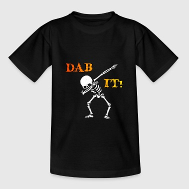 DAB IT - Skelett - Halloween - Helloween - Teenager T-Shirt