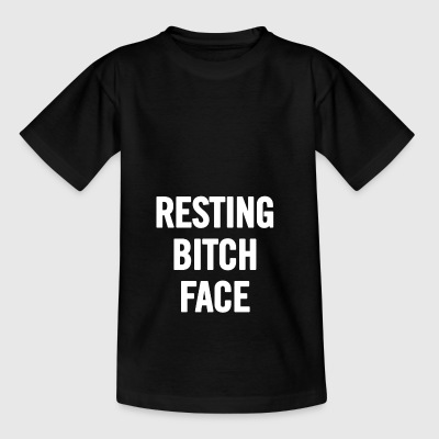 Resting Bitch Face White - Teenage T-shirt