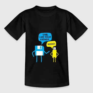 USB I am your Fahter Nerd Computer PC Gamer - Teenager T-Shirt