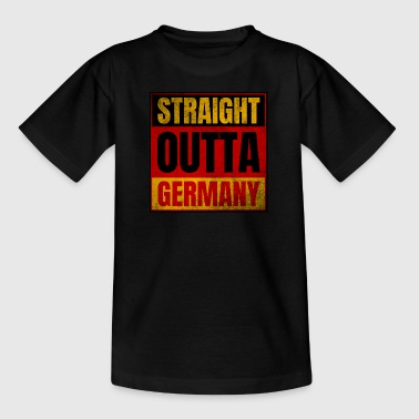 Straight Outta Germany Logo Vintage - Teenager T-Shirt