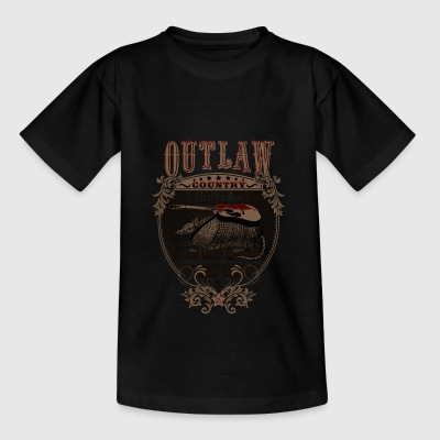 Amerikansk Outlaw Country (Armadillo guitar) - Teenager-T-shirt