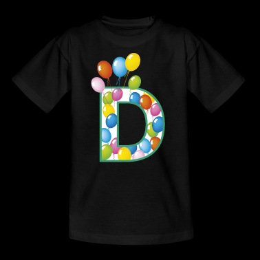 letter D balloons - Teenage T-shirt